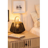 Lampe de table en papier tressé Tish, image miniature 2