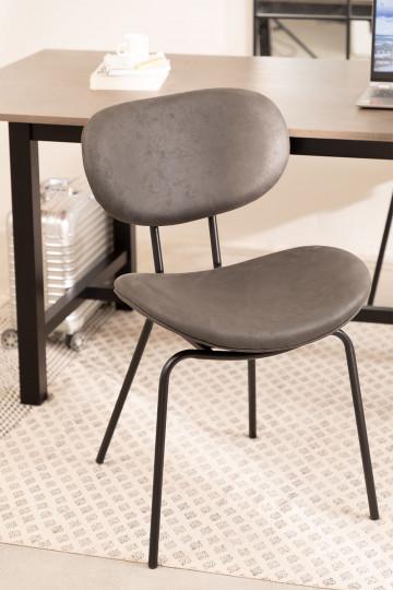 Chaise de salle à manger en similicuir Abix
