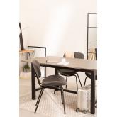 Table à manger en bois de chêne (180x90 cm) Koatt , image miniature 1