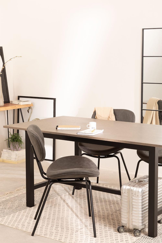 Table à manger en bois de chêne (180x90 cm) Koatt , image de la galerie 1