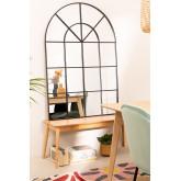 Miroir mural effet fenêtre en métal (135x92 cm) Paola , image miniature 1