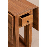 Table pliante en bois recyclé Abura, image miniature 6