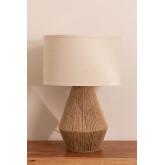 Lampe de table en lin Vasil, image miniature 3
