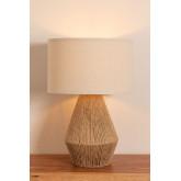 Lampe de table en lin Vasil, image miniature 4
