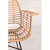 Chaise de salle à manger en rotin synthétique de style Mimbar, image miniature 4