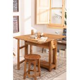 Table pliante en bois recyclé Abura, image miniature 1