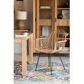 Chaise de salle à manger en rotin synthétique de style Mimbar, image miniature 1