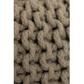Pouf ronde tricotée grise, image miniature 4