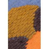 Housse de coussin en coton et jute Zinnie, image miniature 3