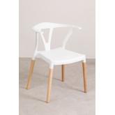 Chaise de jardin en polyéthylène et bois d'Uish, image miniature 2