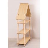 Étagère pour enfants Zita avec 3 étagères en bois, image miniature 4