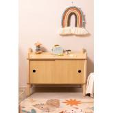 Meuble avec 2 portes coulissantes en bois Tulia Kids, image miniature 2