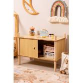 Meuble avec 2 portes coulissantes en bois Tulia Kids, image miniature 1