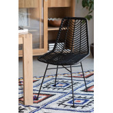 Chaise de salle à manger en rotin synthétique Gouda Colors, image miniature 1