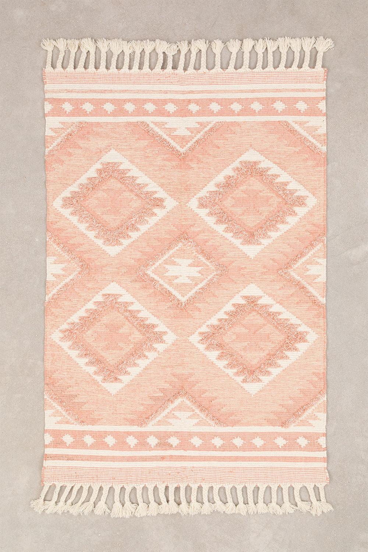 Tapis en laine et coton (210x145 cm) Roiz, image de la galerie 1