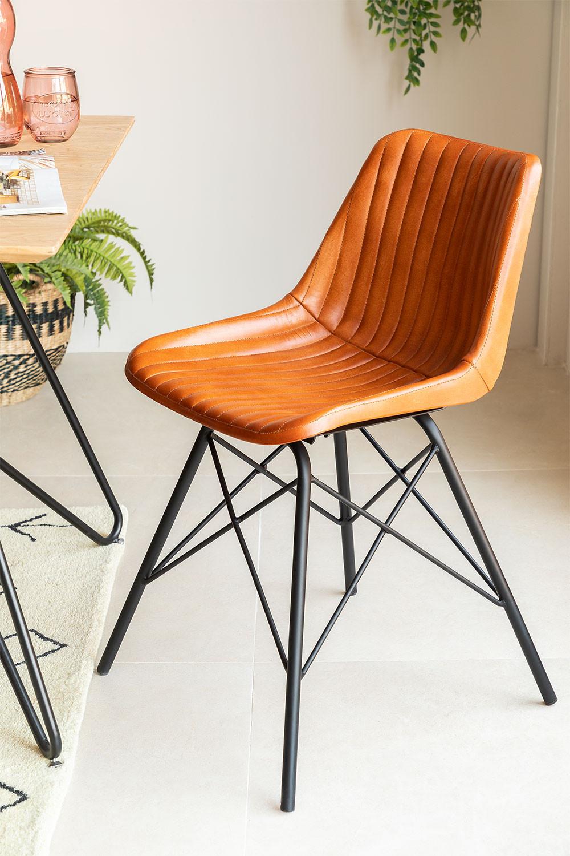 Chaise en cuir Kubyh, image de la galerie 1