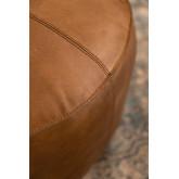 Pouf rond en cuir Tatta, image miniature 4