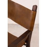 Chaise de directeur en cuir Madeo, image miniature 5