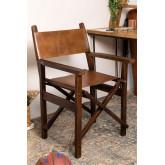 Chaise de directeur en cuir Madeo, image miniature 1