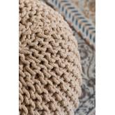 Pouf ronde tricotée grise, image miniature 3