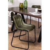Chaise de salle à manger en cuir Kindia, image miniature 1