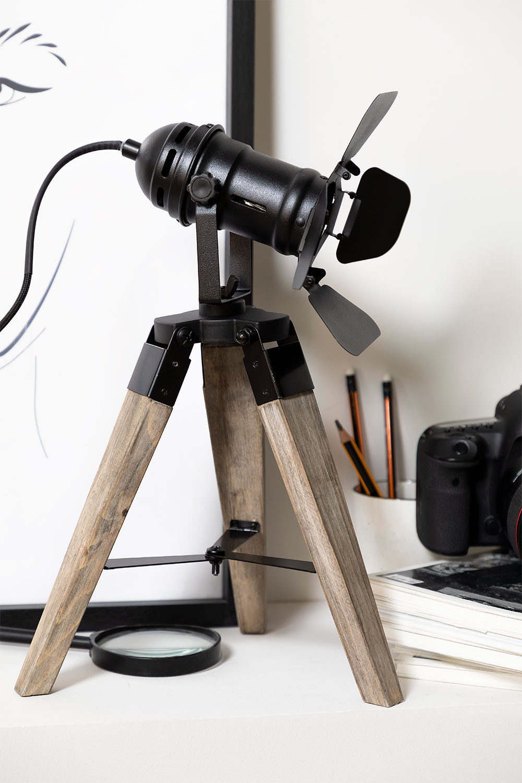 Lampe de table trépied Cinne, image de la galerie 1