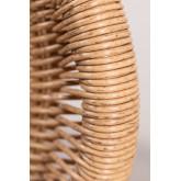 Fauteuil Isdra en osier synthétique , image miniature 6