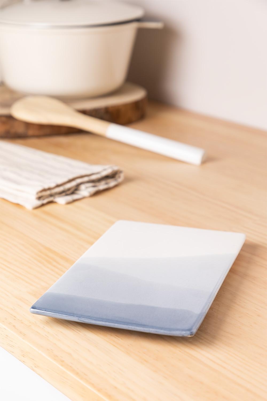Pack de 4 assiettes rectangulaires (21x13 cm) Mar, image de la galerie 1