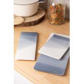 Pack de 4 assiettes rectangulaires (36x15 cm) Mar, image miniature 3