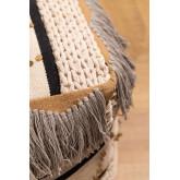 Pouf carrée en coton Kajun, image miniature 2