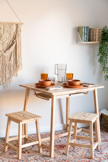 Ensemble de table et tabourets Arlan