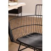 Chaise en métal avec accoudoirs carrés, image miniature 4