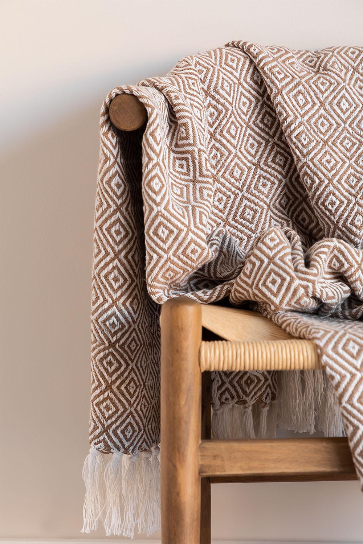 Couverture en coton à carreaux Ikurs, image de la galerie 1