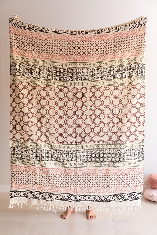 Couverture à carreaux en coton Claiper, image de la galerie 1