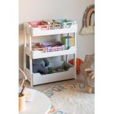 Armoire de rangement de jouets en bois pour enfants Rielle, image miniature 1