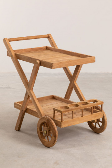 Chariot de jardin en bois de teck Pira