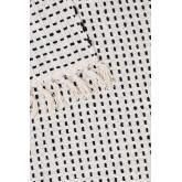 Couverture à carreaux en coton Aryas, image miniature 4