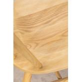 Chaise de salle à manger en bois naturel de Lorri, image miniature 5