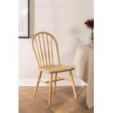 Chaise de salle à manger en bois naturel de Lorri, image miniature 1