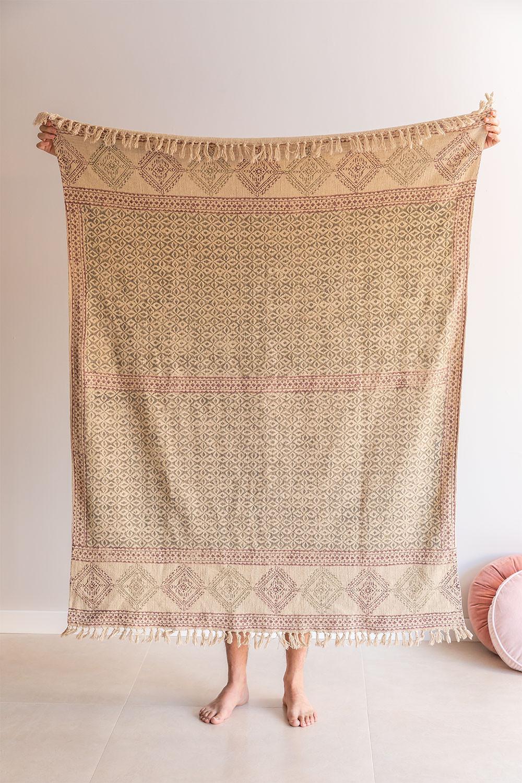 Couverture à carreaux en coton Paiti, image de la galerie 1
