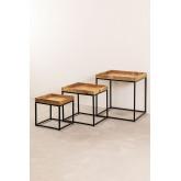 Tables gigognes en bois de manguier Tauber, image miniature 5