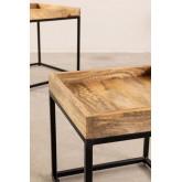 Tables gigognes en bois de manguier Tauber, image miniature 6