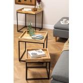 Tables gigognes en bois de manguier Tauber, image miniature 1
