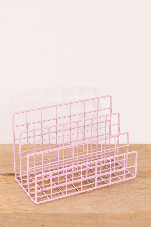 Porte-revues en métal avec compartiments Bok, image de la galerie 1