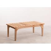 Table basse de jardin en bois de teck Adira, image miniature 2
