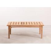 Table basse de jardin en bois de teck Adira, image miniature 4