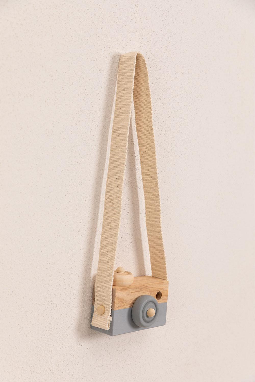 Appareil photo en bois de pin pour enfants Nakom, image de la galerie 1
