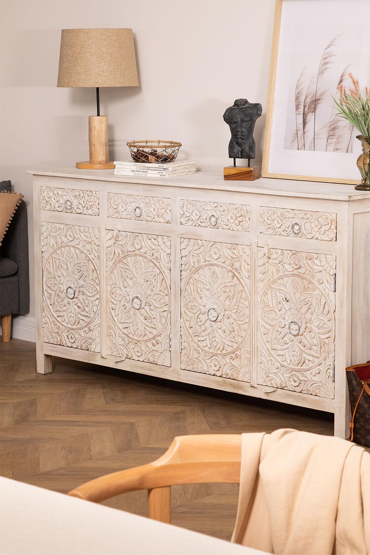 Buffet en bois avec tiroirs Dimma, image de la galerie 1