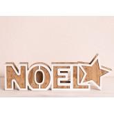 Panneau en bois de Noel avec lumières LED, image miniature 4