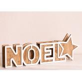Panneau en bois de Noel avec lumières LED, image miniature 2